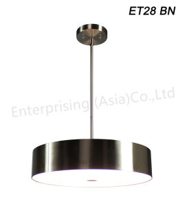 Et28 Brushed Nickel Glass LED Residential Room Lighting Pendant Light pictures & photos
