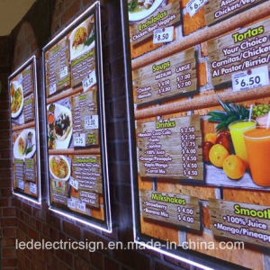 Advertising Product Aluminium Alloy Frame LED Light Box for Restaurant pictures & photos