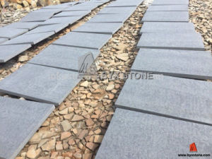 Honed Bluestone Andesite Stone Basalt for Paving Floor Tile pictures & photos
