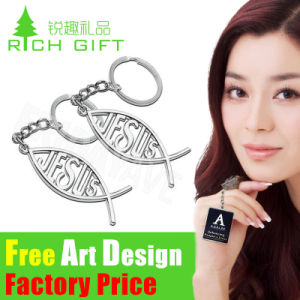 Heart Shaped Metal Alloy Custom Keychain for Promotional Gift pictures & photos