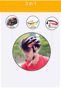 Super Cool Sports Bicycle Helmets Safety Helmet with Glasses and Bluetooth