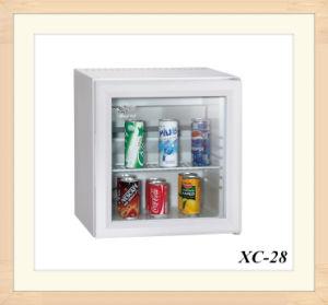 Popular Hotel Lock Option Clear Door Worktop Refrigerator 28L pictures & photos