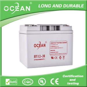 Sealed Maintenance Free Rechargeable 12V 38ah Lead Acid Battery
