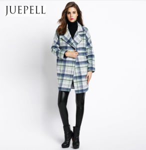2016 New Wemen Fashion Design High Quality Wool Coat Long Wool Viscose Polyester Coat Factory Wholesale Price OEM Jacket in Guangzhou pictures & photos