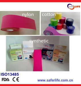Wholesale Medical Kt Sport Therapy Cure Protect Muscle Elastic Cohesive Kinesio Multicolor Thumb Kinesiology Strip Tape pictures & photos