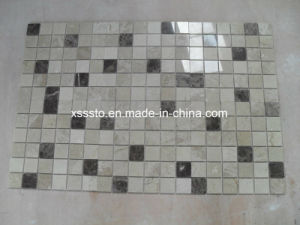 Dark and Light Emperador Marble Multicolor Polished Marble Mosaic Tiles pictures & photos