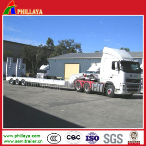 3axles 30-60tons Semi-Truck Lowbed Loader Low Bed Trailer pictures & photos