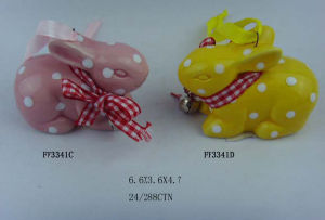 Popular Ceramic Easter Rabbit for Easter Decoration pictures & photos