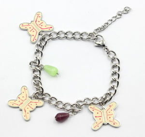 Stainless Steel Bracelet with Butterfly Charms pictures & photos