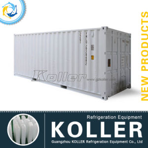 20 Feet Containerized 3tons Ice Block Machine with Cold Room pictures & photos