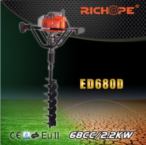 Strong Power Gasoline Earth Drill (ED680D) pictures & photos