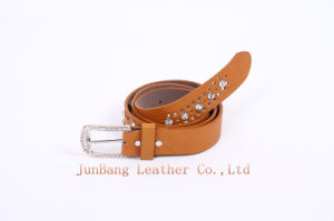 Fashionable Leather Belt with Rhinestone for Women pictures & photos