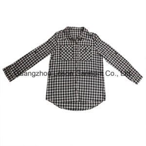 Hot Sale Classic Fashion Pure Color Girl′s Shirt