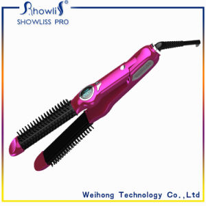 Newest Fashion 2 in 1 Hair Styling Electric Hair Roller and Hair Straightener with LCD Display pictures & photos
