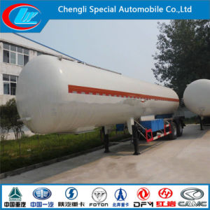 3 Axle LPG Semi Trailer 585000 Liters Gas Tank BPW Axle Grid Semi-Trailer pictures & photos