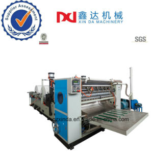 High Quality Nice Embossing Infolder Cutting Towel Tissue Machine pictures & photos