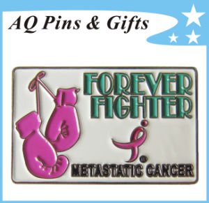 Metal Breast Cancer Awareness Pin for Breast Cancer Fighter (badge-126) pictures & photos