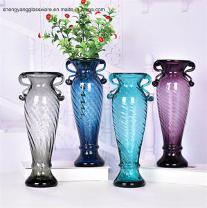 Free Sample Handmade Glass Bottle / Glass Tabletop Vase pictures & photos