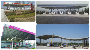 Low Cost Prefabricated Light Guage Steel Toll/Petrol Station Roof pictures & photos