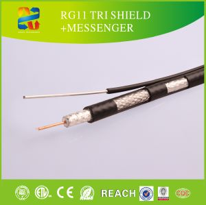 CCTV Cable RG11DM, Dual Cable with Messenger pictures & photos