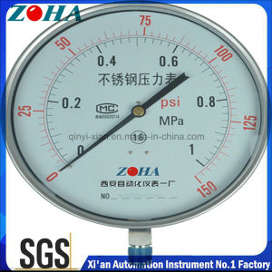 1MPa/150psi Double Scale New Type 200mm/250mm Big Stainless Steel Pressure Gauge pictures & photos