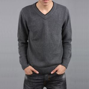 2016 Fall/Winter Fashion V-Neck Knitted Pullover for Men