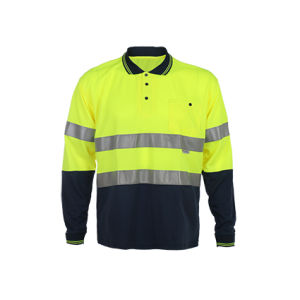 Whosesale Long Sleeve Safety Polo T-Shirts pictures & photos