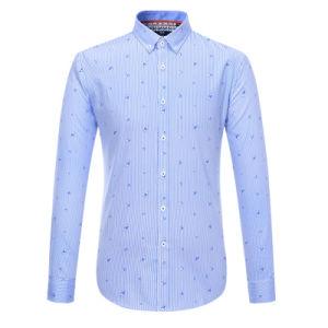 Mens Luxury Formal Long Sleeve Business Dress Shirt