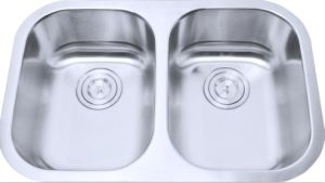 Stainless Steel Kitchen Sink, Small Double Bowls (LD93) pictures & photos