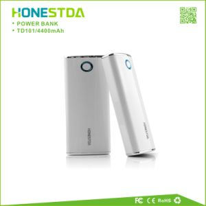 Portable Mobile Charger Power Bank 4400mAh Travel Charger with LED Flashlight pictures & photos