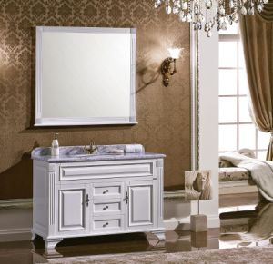 Acient Style White Solid Wood Bath Vanity pictures & photos