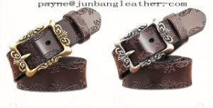 Vintage Gothic Top Grain Leather Belt pictures & photos