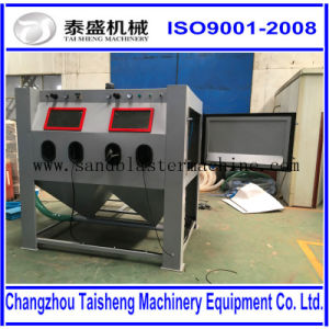 Manually sand blast cabinet sandblasting cabinet sandblaster cabinet with paint spray line