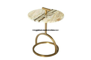OEM ODM Metal Leg Toughened Glass Tea Coffee End Side Table Manufactory pictures & photos