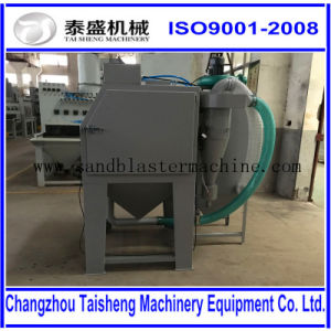 pressure cabinet manual dry sand blasting machine
