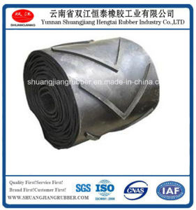 Rubber Conveyor Belt Chervon Rubber Belt with Strong Impact Resistance pictures & photos