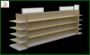 Double Sided Wood and Steel Display Shelving (JT-A30) pictures & photos