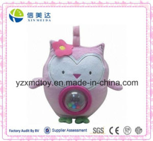 Cute Pink Owl Baby Plush Rattle pictures & photos