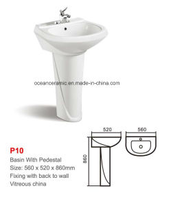 Ceramic Pedestal Basin / Sink (No. P10) pictures & photos