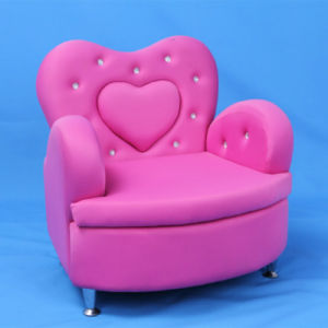 Heart Shaped Rose Red Fabric Children Sofa (SF-199) pictures & photos