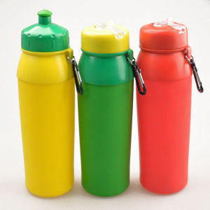 750ml Flexible Collapsible Silicon Water Bottle, Portable Foldable Water Bottle pictures & photos