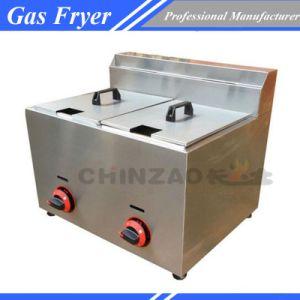 Single Tank Gas Deep Fat Fryer Commercialt Frying Machine Chz-20b pictures & photos