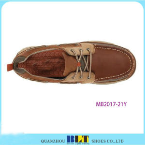 Nature Leather Boat Shoes pictures & photos