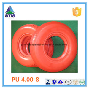 Orange Color PU Solid Tyre