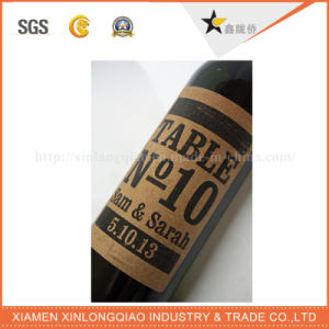 Customi Shape Adhesive Label Printing Red Wine Glass Bottle Sticker pictures & photos