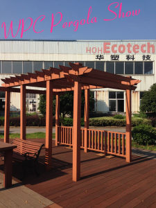 Hoh Eco Friendly WPC Factory Anti Rot Waterproof Wood WPC Pergola Construction pictures & photos