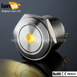 Langir 16mm Push Button Switch with DOT Illuminated pictures & photos