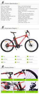 2016 New Model Electric Mountain Bike pictures & photos