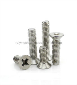 Fasteners Stainless Steel Phillip Head Screw/Cross Screw/Countersunk Screw M2-M3 pictures & photos