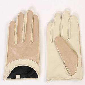 Ladies Fashion Sheepskin Leather Driving Gloves (YKY5156) pictures & photos